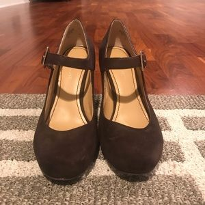 Nine West Leather & Suede Wedges